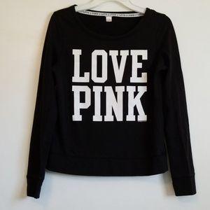 Pi k Victorias Secret Black Love Pink Top